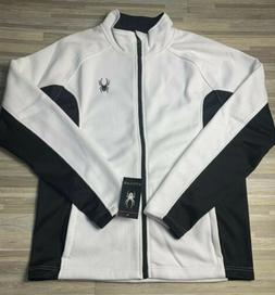 $129 Spyder Stryke Jacket Mens Men's Sz LARGE White/Black