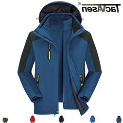 TACVASEN 3in1 Winter Mens Waterproof Fleece Liner Ski Jacket