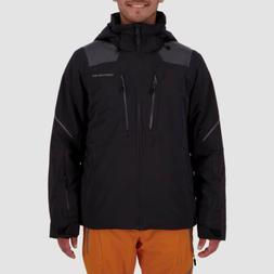 $573 Obermeyer Men Black Foundation Hooded Insulated Coat Pa