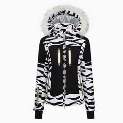 Bogner Nica T insulation women's black white ski jacket with