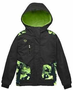 Wantdo Boy's Hooded Ski Jacket Waterproof Winter Coat for Sk