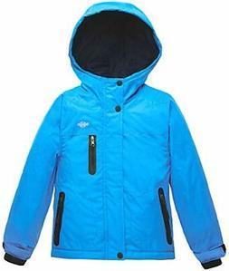 Wantdo Boy's Hooded Ski Jacket Waterproof Winter Coat for 10