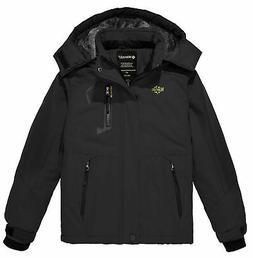 Wantdo Boy's Waterproof Ski Fleece Jacket Thick Winter Coat