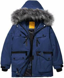 Wantdo Boys Waterproof Ski Jacket Parka Outdoor Jacket Windp