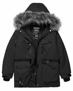 Wantdo Boys Waterproof Ski Jacket Windproof Warm Winter Coat