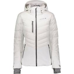 OBERMEYER - Cosima Down White Ski Jacket Wmns 12 NEW w/tags