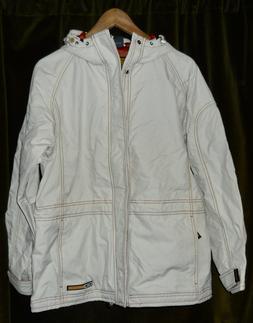 Oakley Cream w/ orange trim Snow Snow Ski Jacket + 1 pair Pa