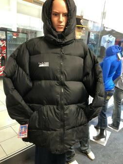 First Down  Down Fill Puffer Jacket M  WITH HOODY Mens Black