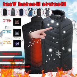 Electric Heat Vest Winter Thermal Warm Heating Coat Jacket F
