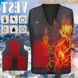 Electric USB Heated Warm Vest Heating Coat Jacket for Winter