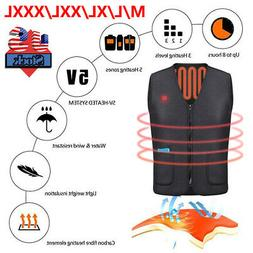 Electric USB Heated Warm Vest Women Men Heating Coat Jacket