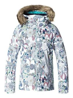 Roxy Girls American Pie Jacket, Ski Snowboard Winter Jacket,