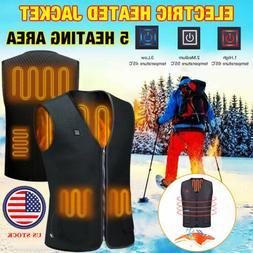 Heated Vest Warm Winter Warm Electric USB Jacket Men Women H