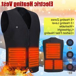 Heated Vest Warm Winter Warm Electric USB Jacket Men Women H