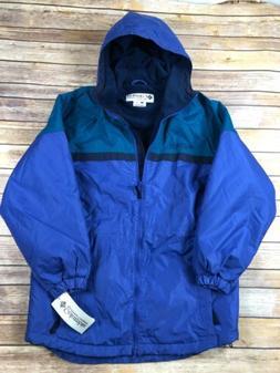 Columbia Jacket Coat Womens Small Fleece Lined Blue Ski Snow