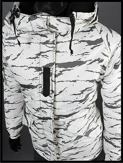K style  White Camo Winter Waterproof Ski-Snowboard Jacket M