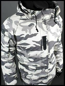 K style  white Military Winter Waterproof Ski-Snowboard Jack