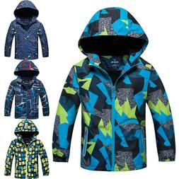 kids ski snow winter warm jacket boys