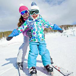 Kids Ski Suit Set Jacket and Pants Waterproof Windproof Warm