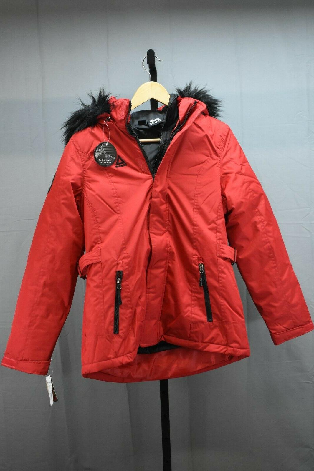 Reebok Hooded Jacket - Women's Large , Red