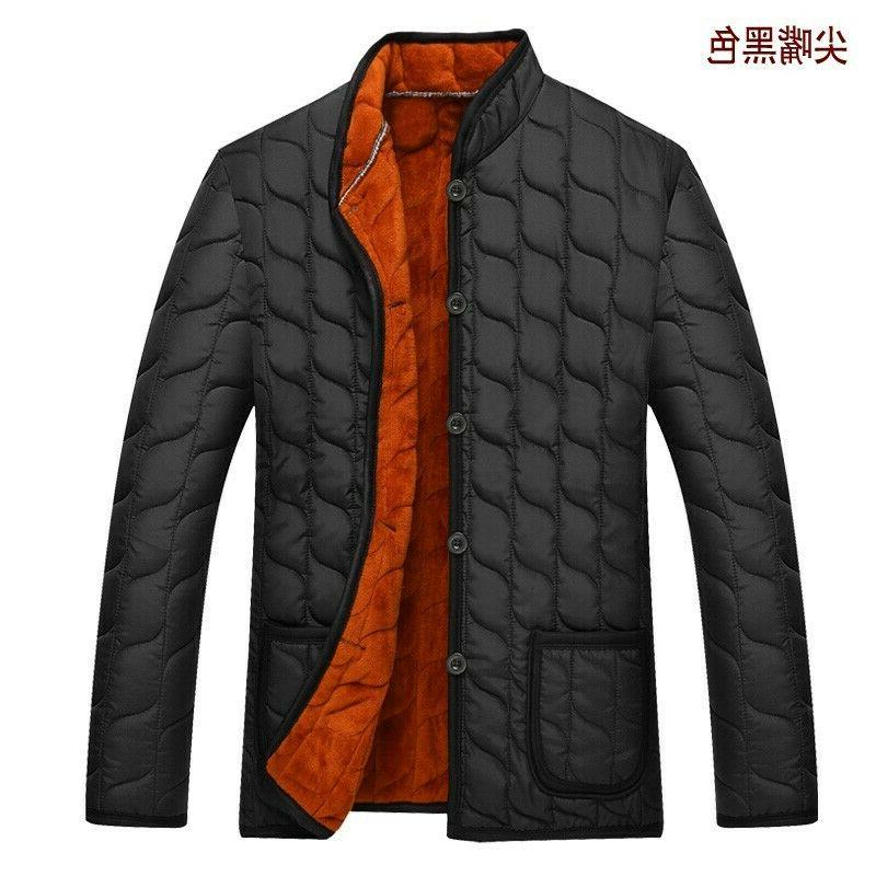 4XL Men Quilted Padded Jacket Single Breasted Lined Zsell
