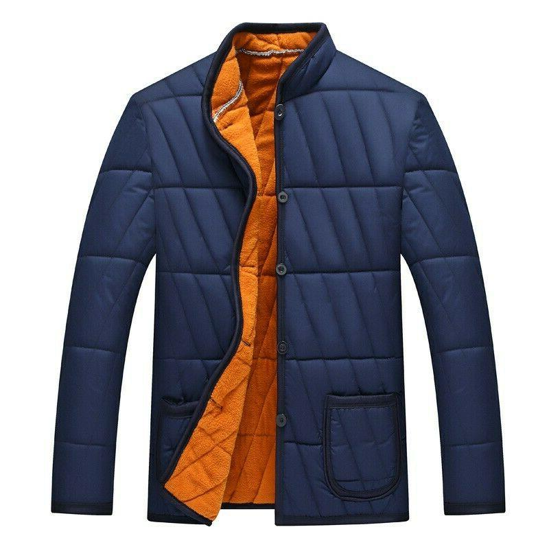 4xl men quilted cotton padded jacket winter