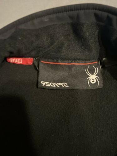 SPYDER Size Black Blue Zip Soft Shell Jacket