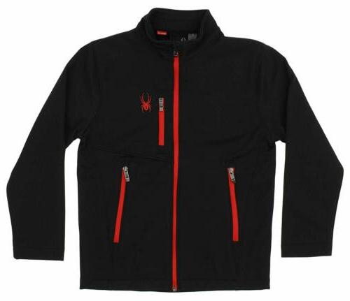 boys youth skiing softshell jacket color options