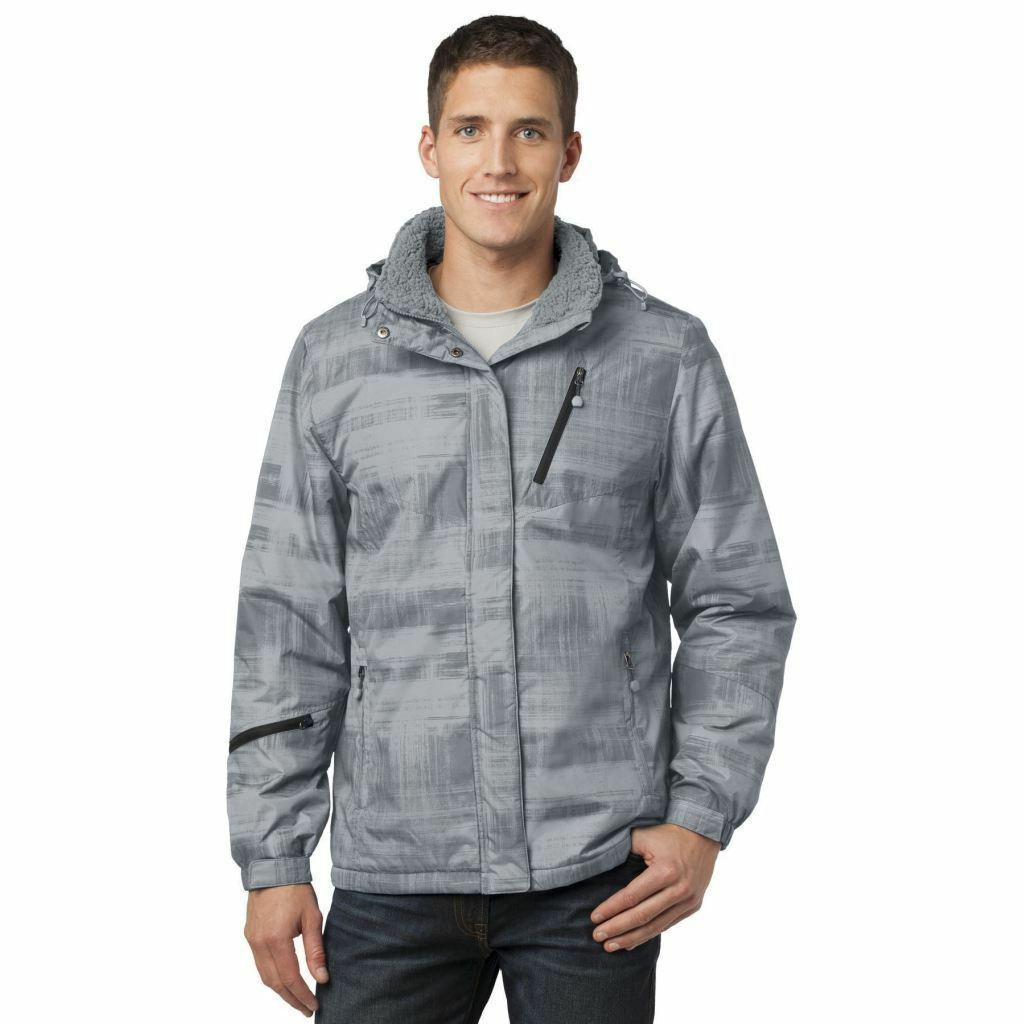 Brushstroke Print Jacket Ski Resistant Warm