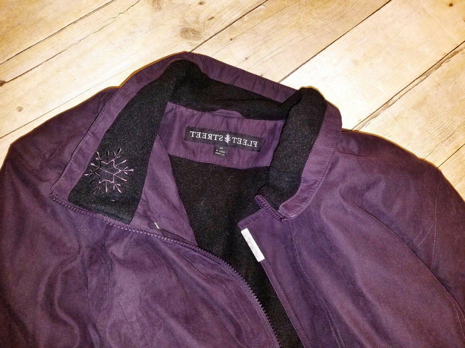EGGPLANT LINED Ski Coat Wind Resistant Jacket 1x