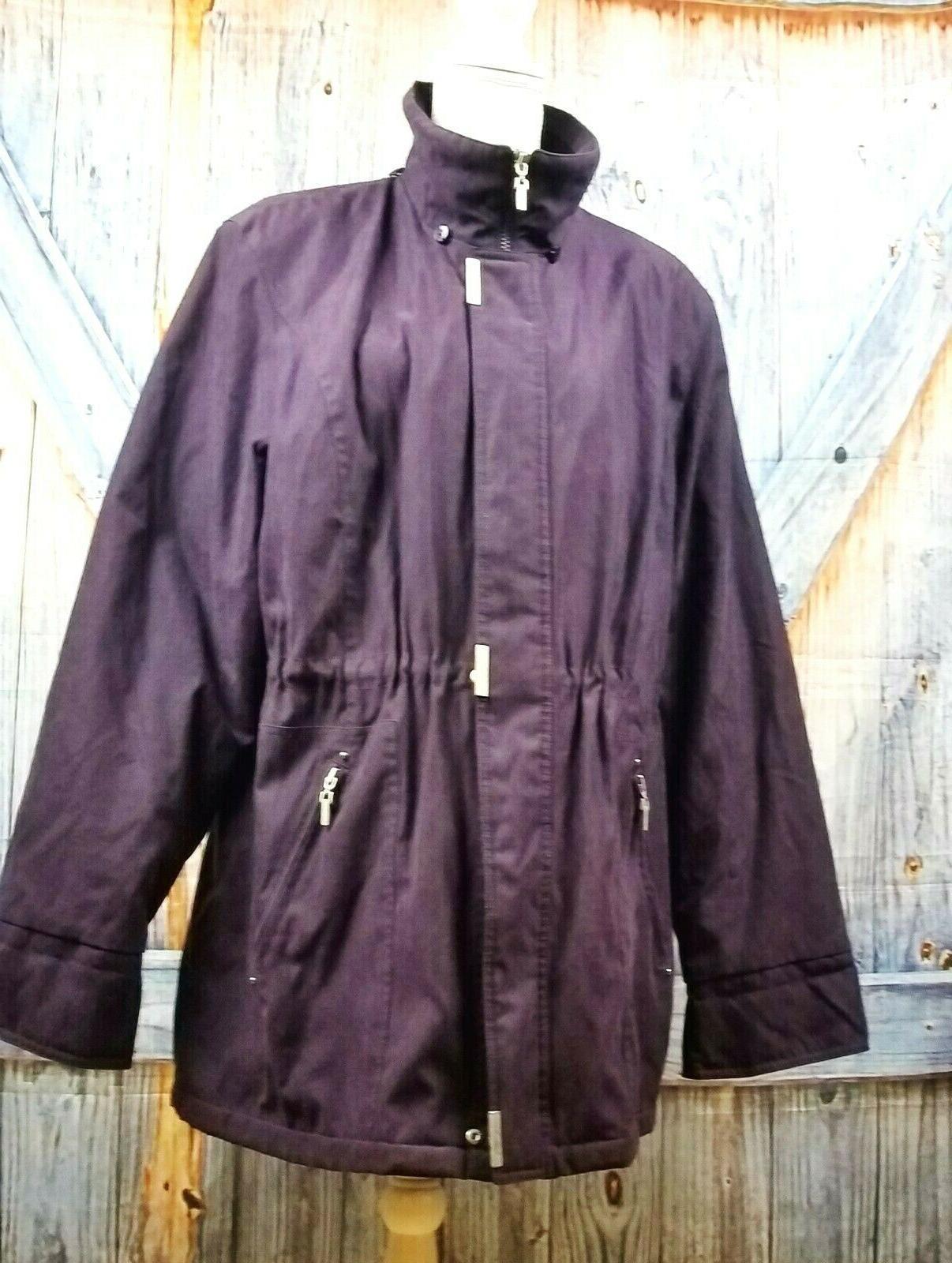 eggplant purple womans lined ski coat winter