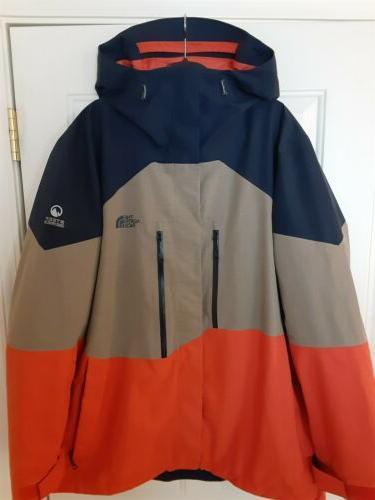 gtx blue tan orange hooded ski jacket