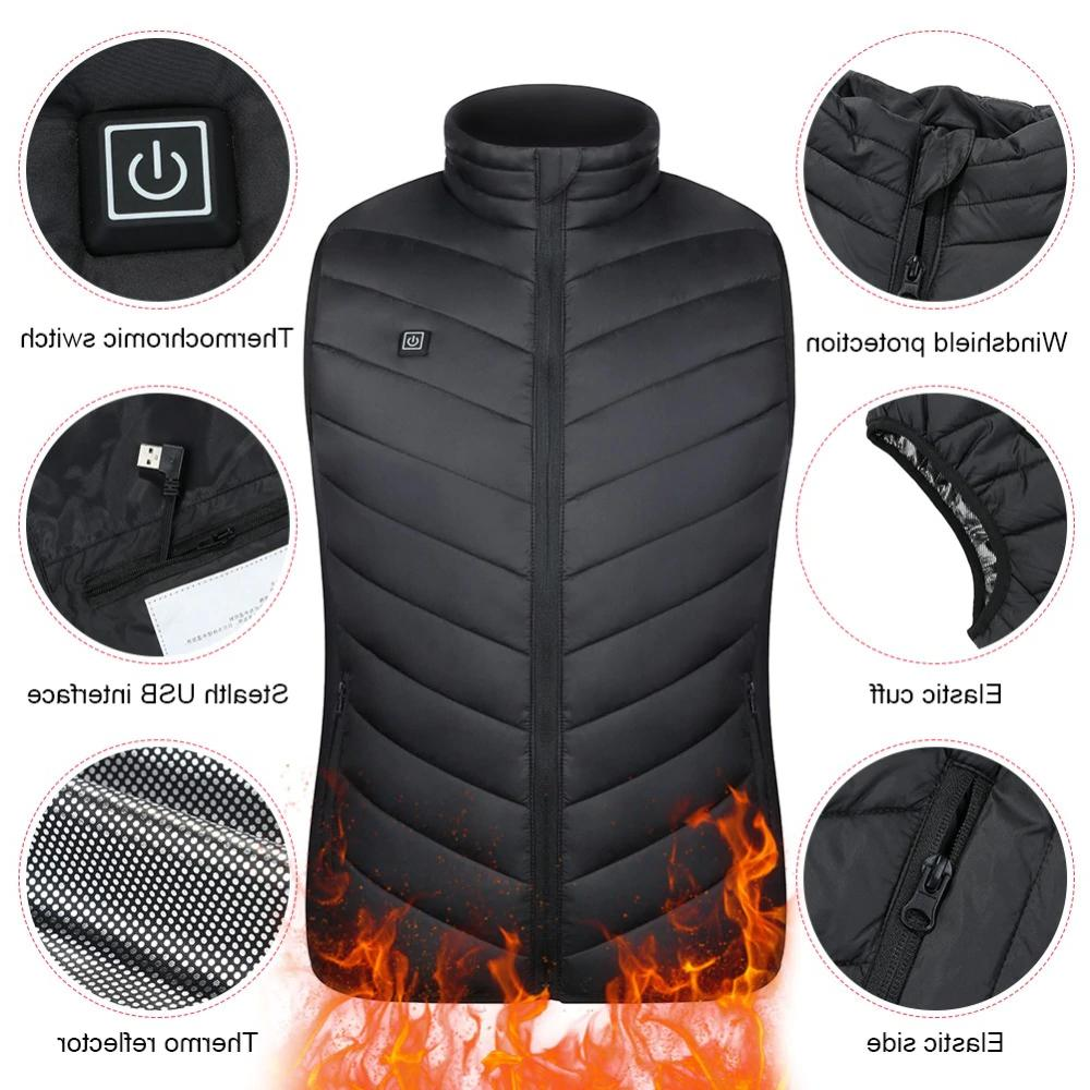 Heated Vest Electric USB Heating Jacket Winter USA