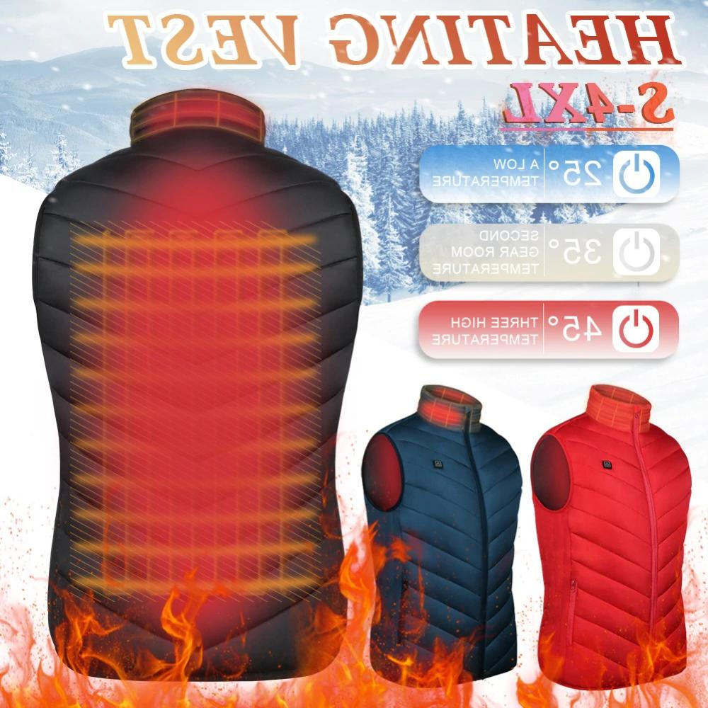 heated vest warm body electric usb men