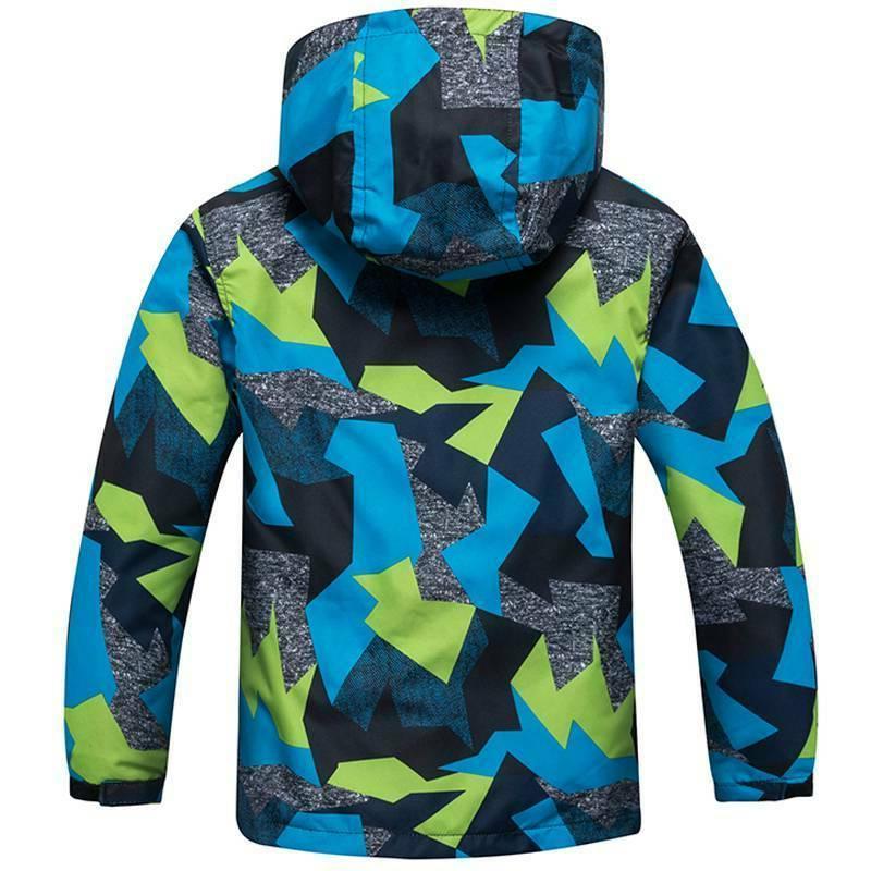 Kids Ski Snow Warm Jacket Boys Girls Coats Windproof Outwear