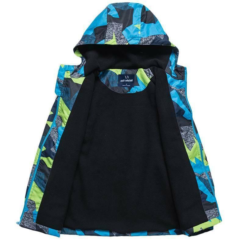 Kids Ski Snow Warm Jacket Boys Coats Zip Outwear