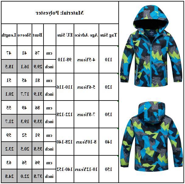 Kids Snow Warm Jacket Coats Children Windproof Outwear