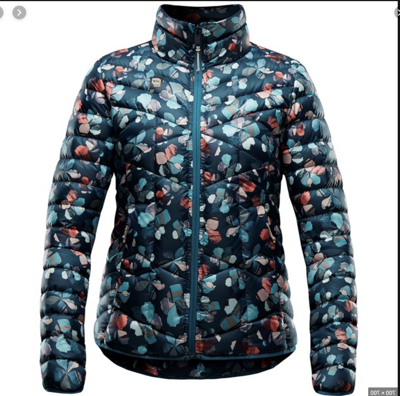 link floral down ski snowbaord jacket size