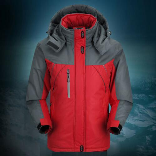 Men Outdoor Jacket Fleece Lined Waterproof