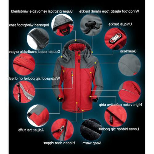 Men Outdoor Jacket Lined Waterproof Snowboard Coat
