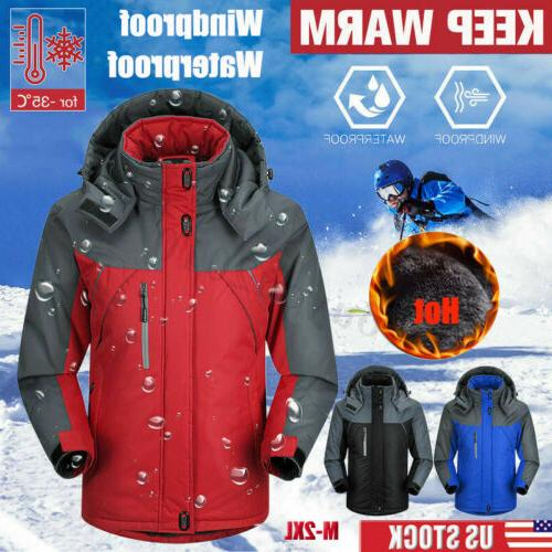 Men&Women Winter Warm Coat Outdoor Waterproof Ski Jacket Fle
