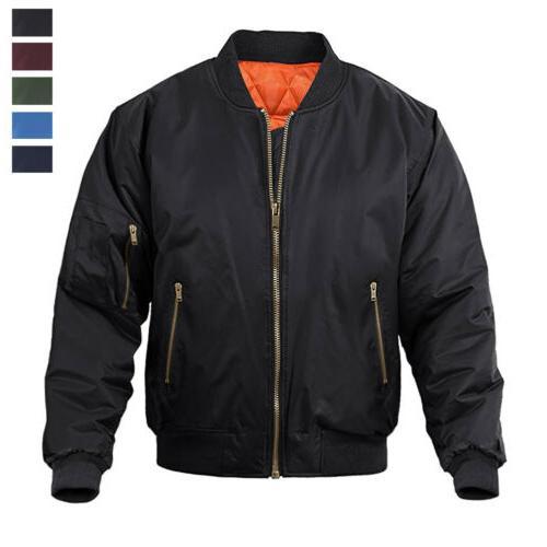 men s bomber jacket casual windproof warm