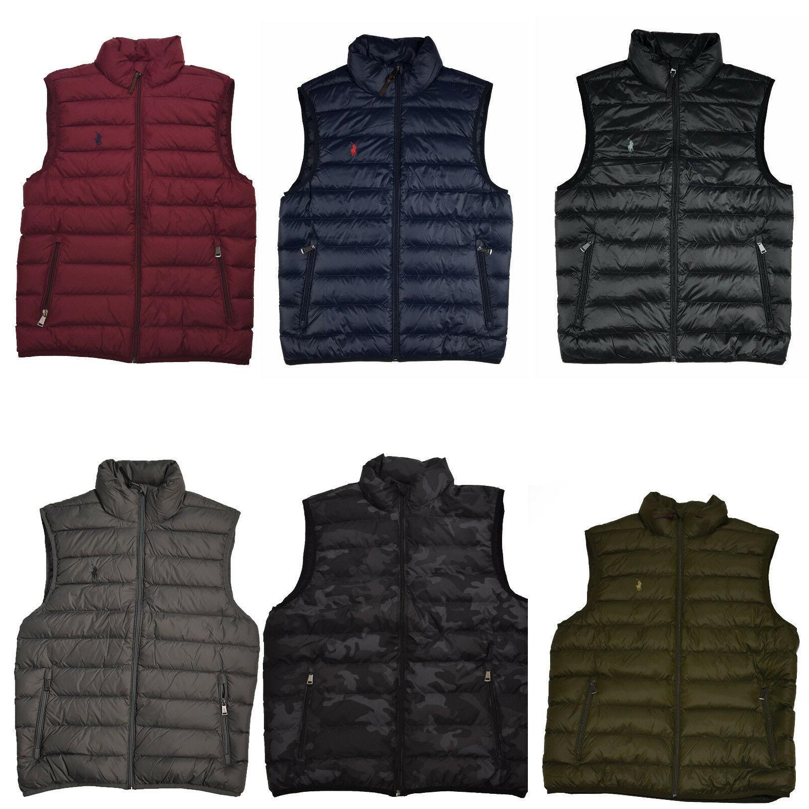men s down filled puffer vest packable
