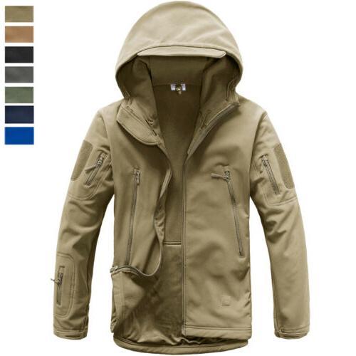 men s tactical soft shell warm jacket