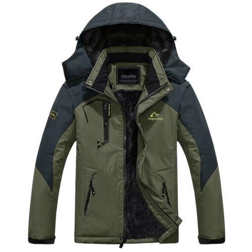 Waterproof Mountain Men's Winter Thermal Fleece Outwear