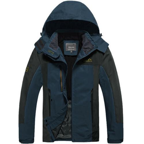 Men's Resistant Hiking Jacket Climbing Tactical Raincoat