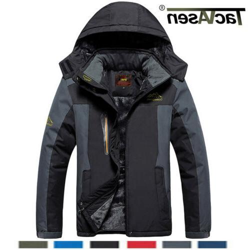 men s waterproof ski jackets fleece windproof