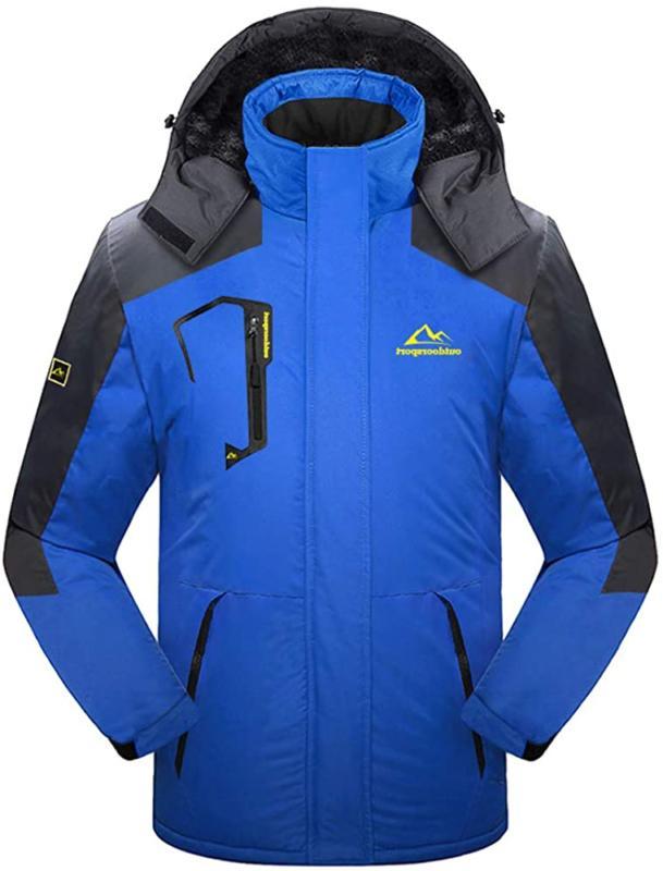 TACVASEN Men's Snow Jacket Windproof Fleece Liner Winter