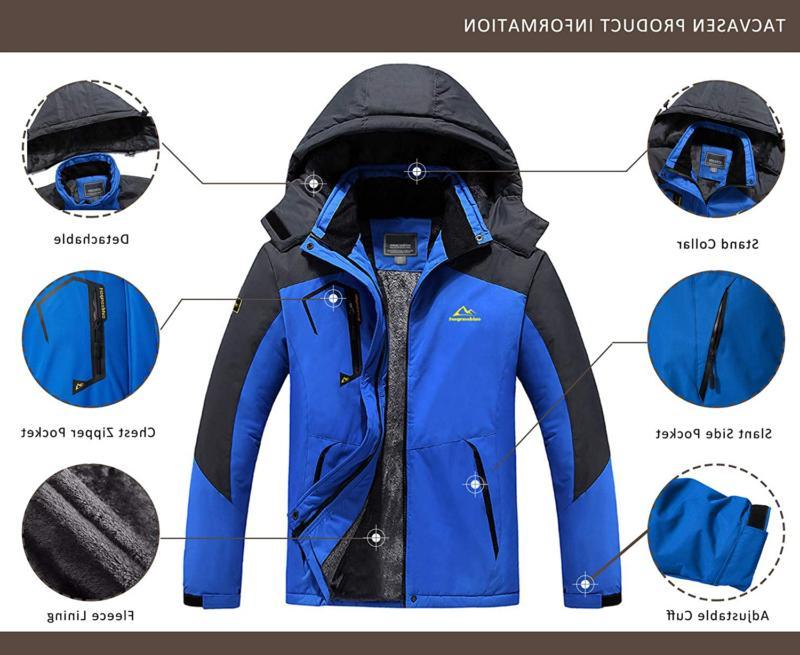 TACVASEN Men's Snow Jacket Windproof Liner Jacket Winter