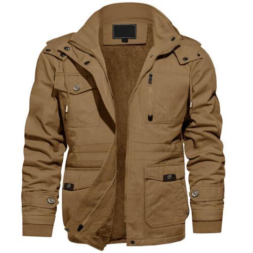 Men's Winter Cargo Jacket Outdoor Lined Warm